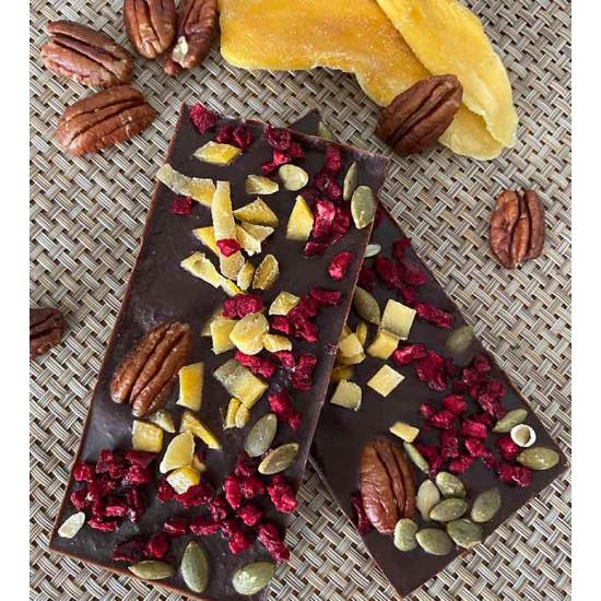 Milk Chocolate - Dried Mango, Cherries, and Pumpkin Seeds - 50g